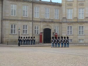 Changing of the guard at the palace